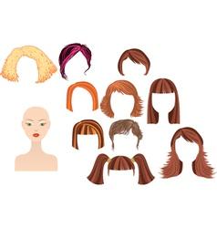 Womans haircuts vector