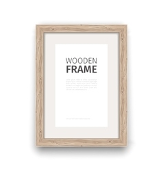 Wooden Rectangle Frame vector image