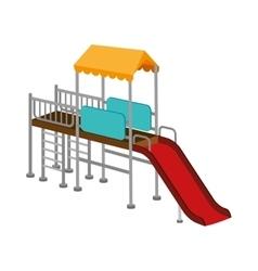 playground slide game icon vector image