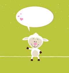 Lovely sheep greeting card vector