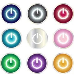 Power button set vector