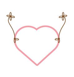 pink heart hang decoration vector image