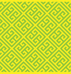 Greek key seamless pattern background in green and vector