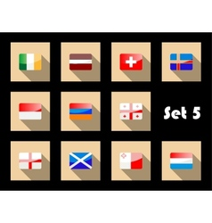 Flag icons set vector