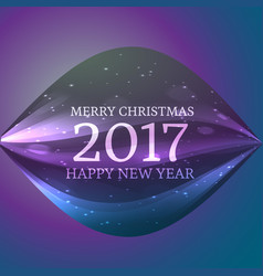 2017 happy new year and christmas background with vector
