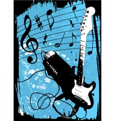 grunge guitar and amplifier vector image