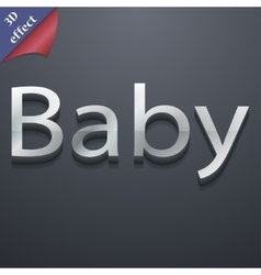 Baby on board icon symbol 3d style trendy modern vector