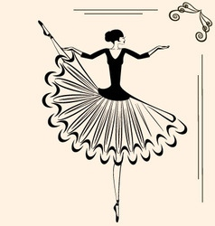 Image of ballet dancer vector