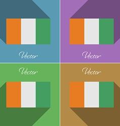 Flags Cote dlvoire Set of colors flat design and vector image