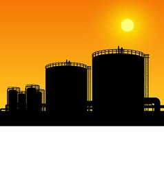 Oil tank storage vector