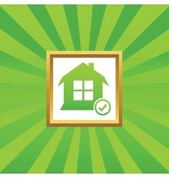 Select house picture icon vector