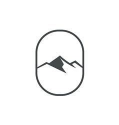 high mountain abstract emblem logo vector image
