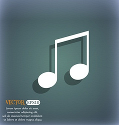 Musical note music ringtone icon symbol on the vector