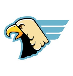 Simple eagle head vector