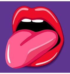 Open mouth with tongue vector