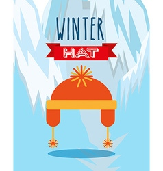 Winter clothing design vector