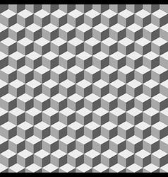 Grey Geometric Volume Seamless Pattern Background vector image