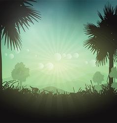Palm tree landscape vector image