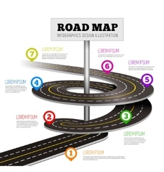 Road way design infographics vector image