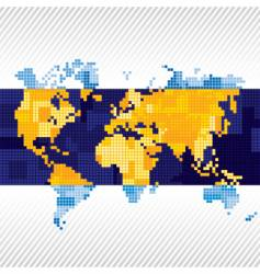 background with a world map vector image vector image