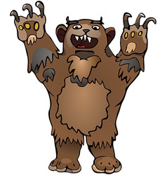 Bear hands up vector image vector image