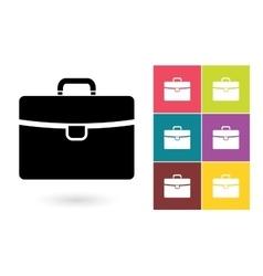 Briefcase icon or business briefcase symbol vector