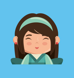 cute japanese girl character vector image