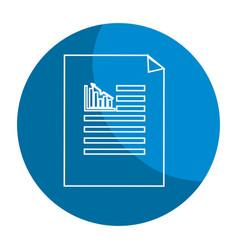 Emblem business statistics strategy data documents vector