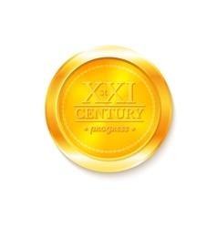 Gold medal award vector image
