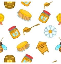 Honey pattern cartoon style vector