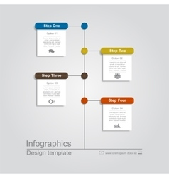 Infographic template with place for your data vector image vector image