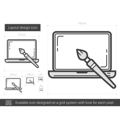 Layout design line icon vector