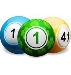 Lucky clover bingo ball on white vector