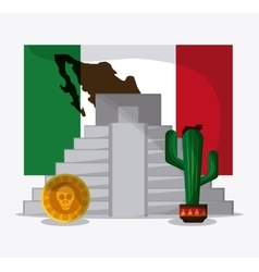 Mexico design culture icon colorfull vector