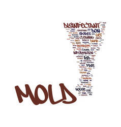 Mold disinfectant text background word cloud vector