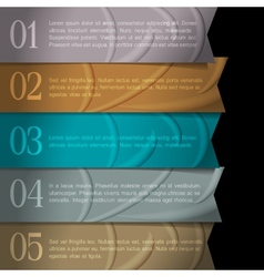Numbered ribbons banners for design vector image vector image