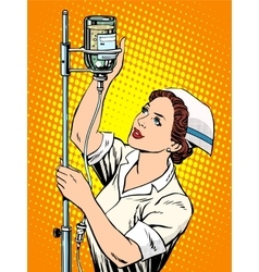 Nurse medicine dropper vector