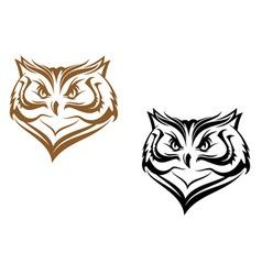 owl head vector image vector image