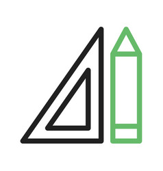 Pencil and set square vector