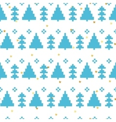 seamless pattern with New Year 8 bit vector image vector image