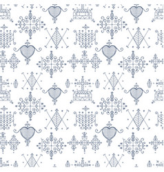 seamless pattern with voodoo spirits symbols vector image