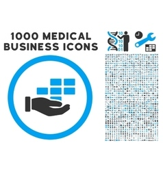 Service schedule icon with 1000 medical business vector