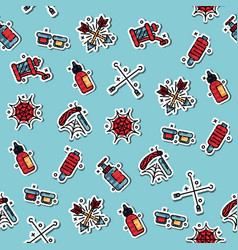 tattoo flat icons pattern vector image