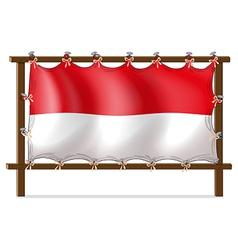 The flag of monaco vector