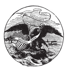 The official seal of the us state of illinois in vector