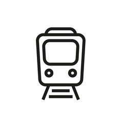 train icon on white background vector image