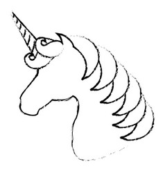 unicorn animal horn vector image
