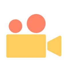 video camera silhouette icon cinema pictogram vector image