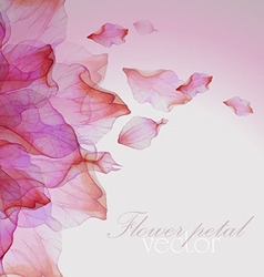 Watercolor floral pattern with petals vector