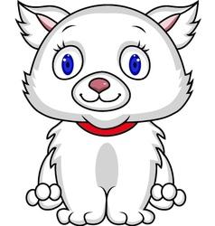 White cat cartoon vector